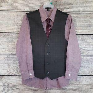 NWOT 3 Piece Boys Suit - Vest, Tie & Shirt Size 10